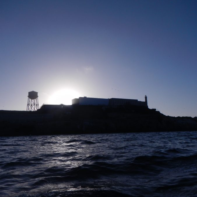Alcatraz Island, from the west side.