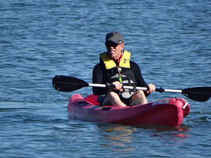 Me, in a kayak.